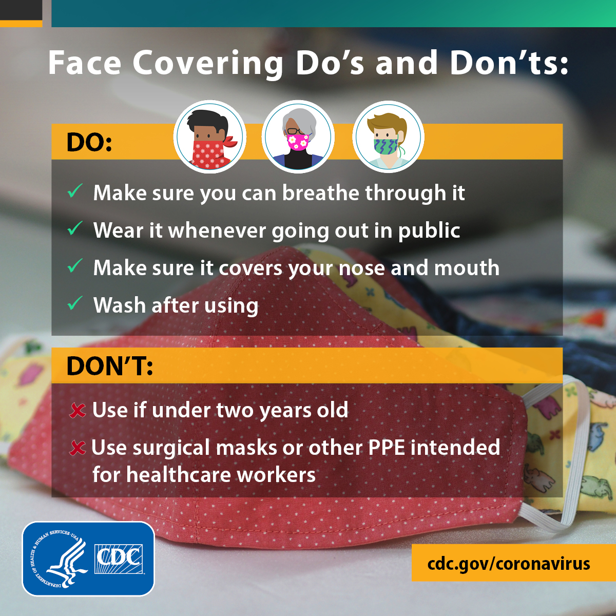 face-covering-checklist - cdc