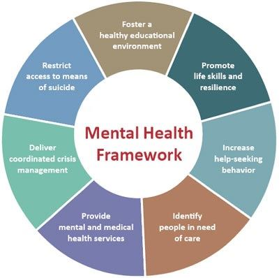 Mental Health Framework Color Wheel