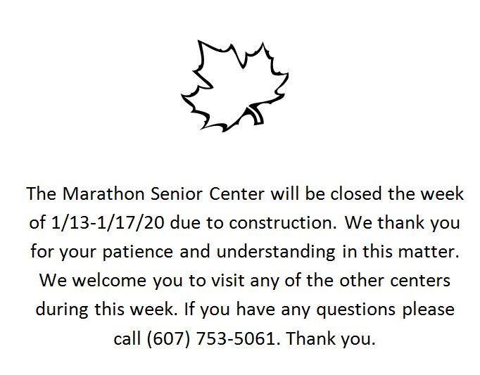 Marathon center closed